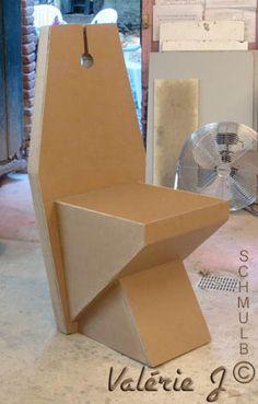 Chaise en carton avec la 3em methode de Schmulb