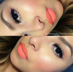 """""""Sushi Kiss"""" by MAC. Just got this lip colour. Perfect for Summer."""
