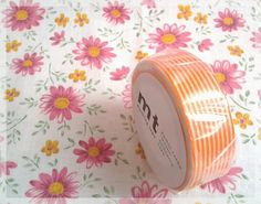 MT tape orange stripe washi tape
