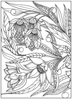 Vintage Flower Coloring Pages on Behance More