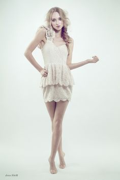 Great pose for white seamless backdrop. Perfect Day by Joanna Kustra, via Behance