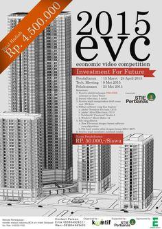 "Economic Video Competition (EVC) 2015 ""Investment for Future"" Pelaksanaan : Sabtu, 23 Mei 2015 Tempat : STIE Perbanas, Surabaya  http://eventsurabaya.net/?event=economic-video-competition-evc-2015"
