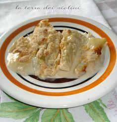 Finocchi gratinati al forno, con besciamella e grana padano