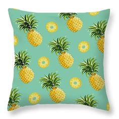 Cute pineapple throw pillow