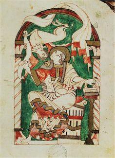 Marcus ~ Illustratie uit een in Corbie vervaardigd evangeliarium ~ ca. 1025-1050 ~ Bibliothèque Municipale, Amiens