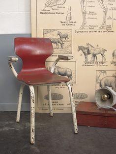 Chaise vintage pour enfants Tubax vintage school chair, €65.00 by LES PETITS BOHEMES