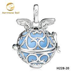 H228-20 Platinum Plated Cooper Harmony Ball Angel Caller Pendant For Pregnant Women Fashion Floating Locket Angel Wings Pendant