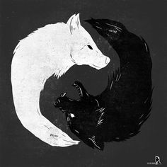 ... Two Wolves Tattoo on Pinterest | Wolf Tattoos Tribal Wolf and Tattoos
