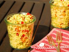 Schneller Couscous-Salat mit Paprika und weißen Bohnen | Vegan & Lecker