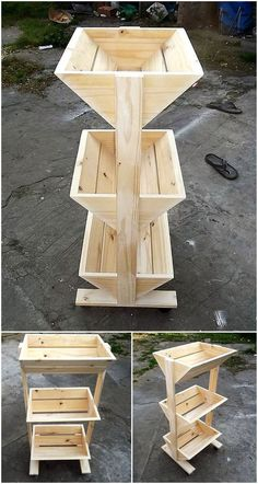 Recreation Ideas with Used Shipping Wood Pallets Estante de frutas e paletes de madeira The post Recreation Ideas with Used Shipping Wood Pallets appeared first on Woodworking ideas. Pallet Crafts, Diy Pallet Projects, Garden Projects, Wood Crafts, Pallet Ideas, Outdoor Projects, Pallet Creations, Diy Holz, Wooden Pallets