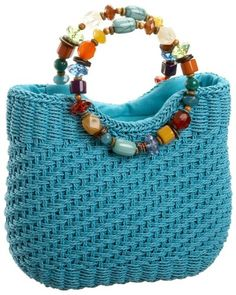 Cappelli BA2082 Ring Bead Handle Tote Turquoise