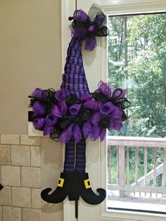 Your place to buy and sell all things handmade Cute Halloween Food, Halloween Witch Wreath, Halloween Door Hangers, Halloween Hats, Halloween Party Decor, Halloween Ideas, Halloween Favors, Halloween Witches, Halloween Goodies