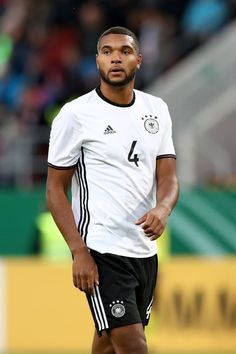Jonathan Tah Photos Photos - Jonathan Tah of Germany looks on during the 2017 UEFA European U21 Championships Qualifier between Germany and Russia at Audi Sportpark on October 7, 2016 in Ingolstadt, Germany. - Germany U21 v Russia U21 - 2017 UEFA European U21 Championships Qualifier