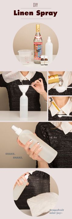 Easy DIY Linen Spray using doTERRA essential oils, vodka, and filtered water. Easy and all-natural way to have your clothes smelling great! www.onedoterracommunity.com https://www.facebook.com/#!/OneDoterraCommunity
