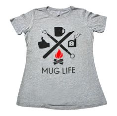 Men's and Women's Sizes!Live the Mug Life in this hot out of the kiln  T-Shirt design made for potters and pottery enthusiasts alike! Mug Life is  all about living the dusty lifestyle of a potter and showing your friends  where your priorities are in life. Help spread the word...Pottery is Cool!  Stay Dusty, Friends.