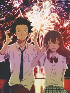 A Silent Voice - Shoya Ishida & Shoko Nishimiya Kyoani Anime, Film Anime, Anime Love, Otaku Anime, Totoro, Koe No Katachi Anime, A Silent Voice Anime, Voices Movie, Humour Geek