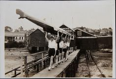 YWCA womens rowing team carry their boat from Gardners Boat Shed by Australian National Maritime Museum on The Commons, via Flickr
