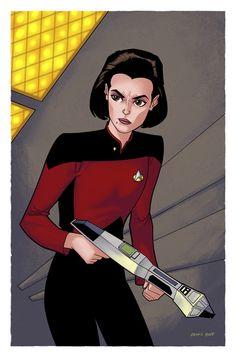 Ensign Ro Laren by ~DennisBudd Star Trek Tv, Star Trek Ships, Star Trek Voyager, Star Wars, Big Star, Star Trek Online, Starfleet Academy, United Federation Of Planets, Star Trek Images