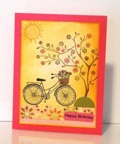 images hero arts love jar stamp | tree bicycle and sun are all hero arts stamps i used distress inks for ...