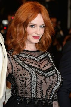 Christina Hendricks fire ginger red hair ~~ 21 most famous celebrity redheads to inspire your next hairstyle