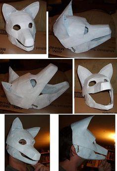 wolf mask progress by Merkindesr on DeviantArt
