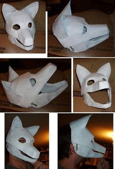 wolf mask progress by Merkindesr on DeviantArt