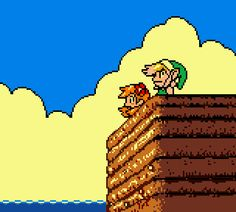 Link's Awakening - Link and Marin