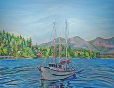 The Murralet At Winter Harbour Art Print by Vancouverite Morgan Ralston | Society6