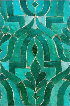 Dark Spring and Turquoise green for this Moroccan Zellige tiles mosaic. Tuile Turquoise, Turquoise Tile, Green Turquoise, Blue Green, Turquoise Fashion, Turquoise Pattern, Green Pattern, Emerald Green, Navy Blue