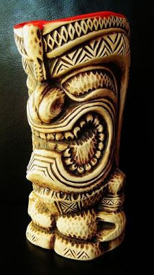 great collection of tiki mugs
