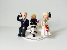 Bride and groom alomg with pageboy on an aircraft by ALittleRelic