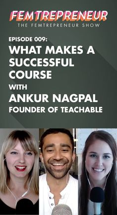 Today's guest is Ankur Nagpal, founder of Teachable.com, a course hosting  and creation platform that we've loved and used for all of our recent  courses.   We discuss the insights Ankur has gathered from his position beside the  scenes of running and selling thousands of courses on Teachable,