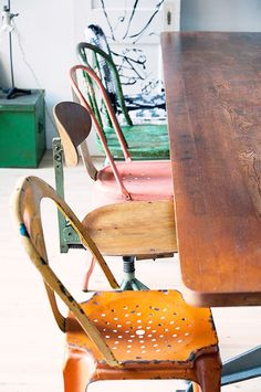 Vintage chairs, mixed perfectly well | found in sfgirlbybay | Fran parente photography