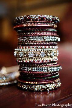 Fulfill a Wedding Tradition with Estate Bridal Jewelry Indian Wedding Bride, Indian Wedding Jewelry, Indian Jewelry, Indian Bangles, Indian Accessories, Bridal Accessories, Bridal Bangles, Bridal Jewelry, Bangle Set