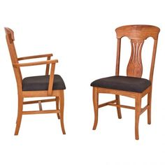 Our high end Burlington Dining Chairs are built to order in Vermont with sustainably harvested, natural solid woods. Each chair is handmade by Vermont furniture makers. Customize with your choice of wood stain and upholstery.