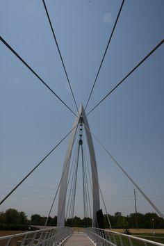 Bridge to the Keeper, Wichita, Kansas. I love walking across this bridge. So beautiful!