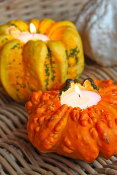 DIY 'Gourd'eous Candle Holders