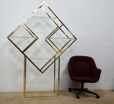 MCM Diamond Shaped Etagere Baughman Style