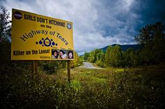 "luciferlaughs: "" The Highway of Tears murders is a string of unsolved murders and disappearances of women along the 720 km section of Highway 16 between Prince George and Prince Rupert, British. Asian History, British History, Tudor History, Strange History, History Facts, Historical Women, Historical Photos, Anne Boleyn Tudors, Creepy Horror"