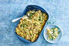 Kijk wat een lekker recept ik heb gevonden op Allerhande! Romige ovenschotel met tonijn