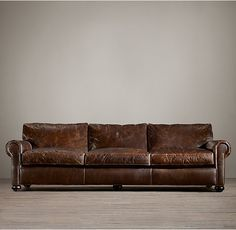 Lancaster Leather Sofa :: Distressed Leather Furniture Is Pet Friendly.