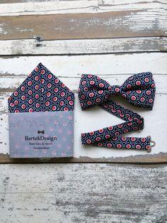 Bow Tie & Pocket Handkerchief by BartekDesign: set by BartekDesign