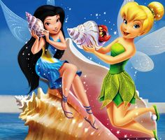 tinkeperi:  Disney Fairies: Tinkerbell and Silvermist:)