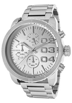 Diesel Women's Chronograph Silver Dial Stainless Steel