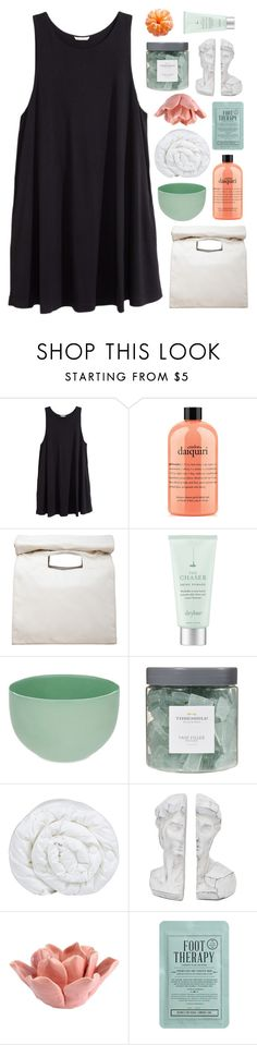 """""""EVERYTHING WILL GLOW FOR YOU"""" by vanilla-chai-tea ❤ liked on Polyvore featuring H&M, philosophy, Limi Feu, Drybar, Mud Australia, Threshold, Brinkhaus, HomArt and Kocostar"""