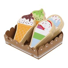 Wooden Toy Shop, Wooden Play Food, Wooden Toy Kitchen, Wooden Toys, Play Cube, Activity Cube, Alphabet Blocks, Chocolate Spread, Rainbow Sprinkles