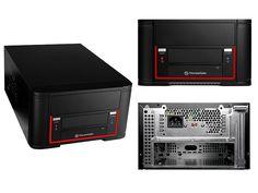Gabinete ThermalTake Element Q con fuente 200W - Mini ITX