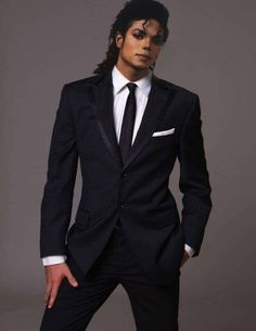 Rare image of Michael Jackson (photoshopped or not) lookin' damn good in a suit.
