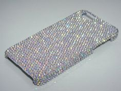 Clear AB Swarovski Elements Plain Bling Rhinestones Hard Case Cover with Crystals for iPhone 5 or iPhone 4 4S on Etsy, $79.99