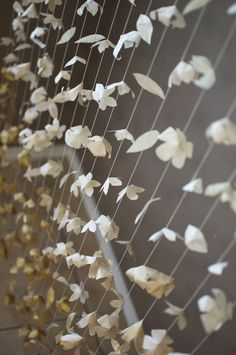 Items similar to Paper Flower Garland: Gold Ombre on Etsy Origami Garland, Paper Flower Garlands, Diy Garland, Floral Garland, Paper Flowers, Garland Ideas, Diy Wedding Garland, Wedding Ceremony Backdrop, Reception Decorations
